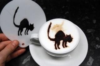 Halloween scary cat stencil We are a coffee marketplace. We carefully select partners that supply the finest coffees, coffee machines and barista accessories and bring them all together in one place Love-Espresso. http://www.love-espresso.co.uk/
