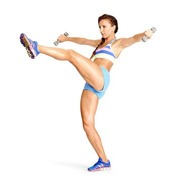Do the Eagle Lunge exercise for stronger arms, abs, butt and legs