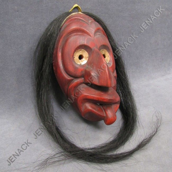 "false face masks | 80: IROQUOIS FALSE FACE SOCIETY ""BROKEN ..."