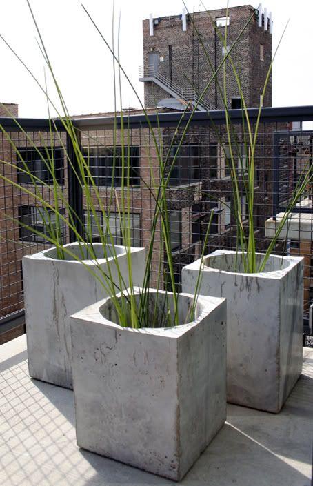 cemento concreto jardineras macetas plantas jardn de hormign jardineras de hormign hormign bricolaje escaleras de hormign