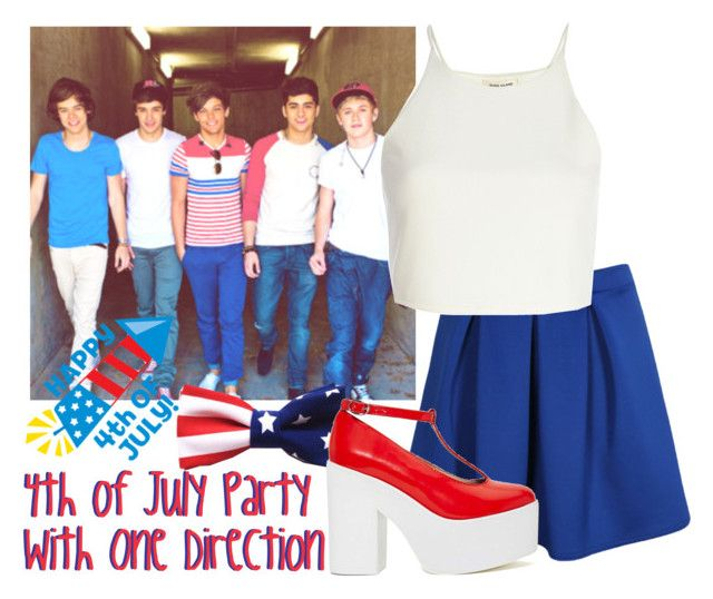"""""""4th of July Party With One Direction + HAPPY 4TH OF JULY"""" by albamonkey ❤ liked on Polyvore featuring Boohoo, River Island and Jeffrey Campbell"""