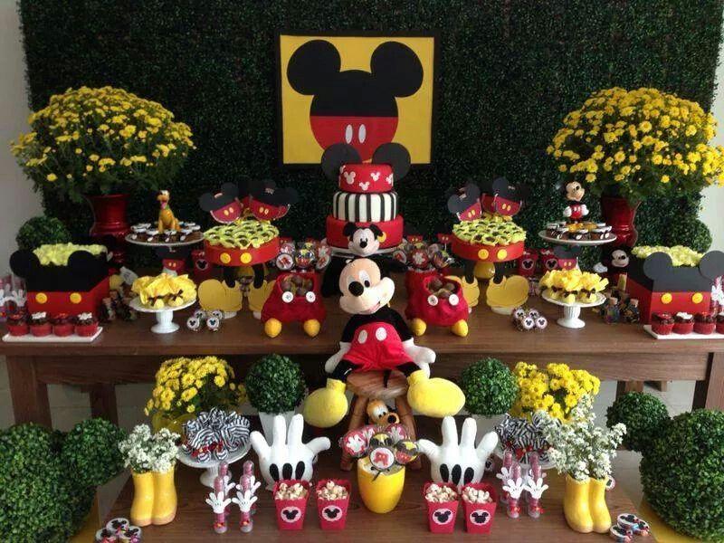 Mesa de doces festa mickey lembrancinhas decora es for Mesa de cumpleanos de mickey