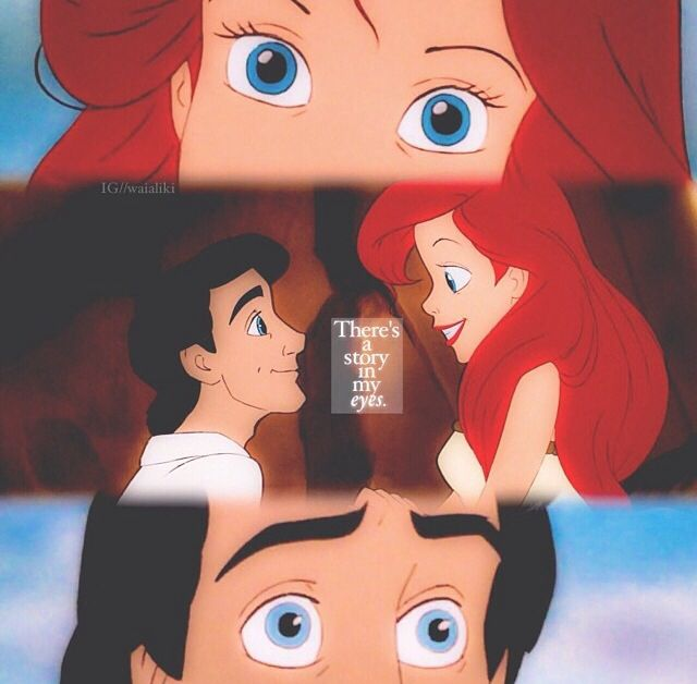 Their eyes are beautiful. (I think eyes are my favorite part of Disney's animated characters.)