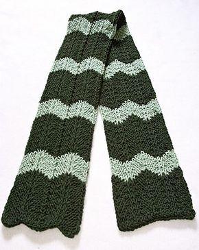 Ravelry: Loom Knit Chevron Scarf pattern by Faith Schmidt