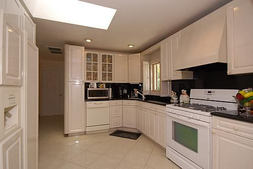 White Cabinets + White Appliances