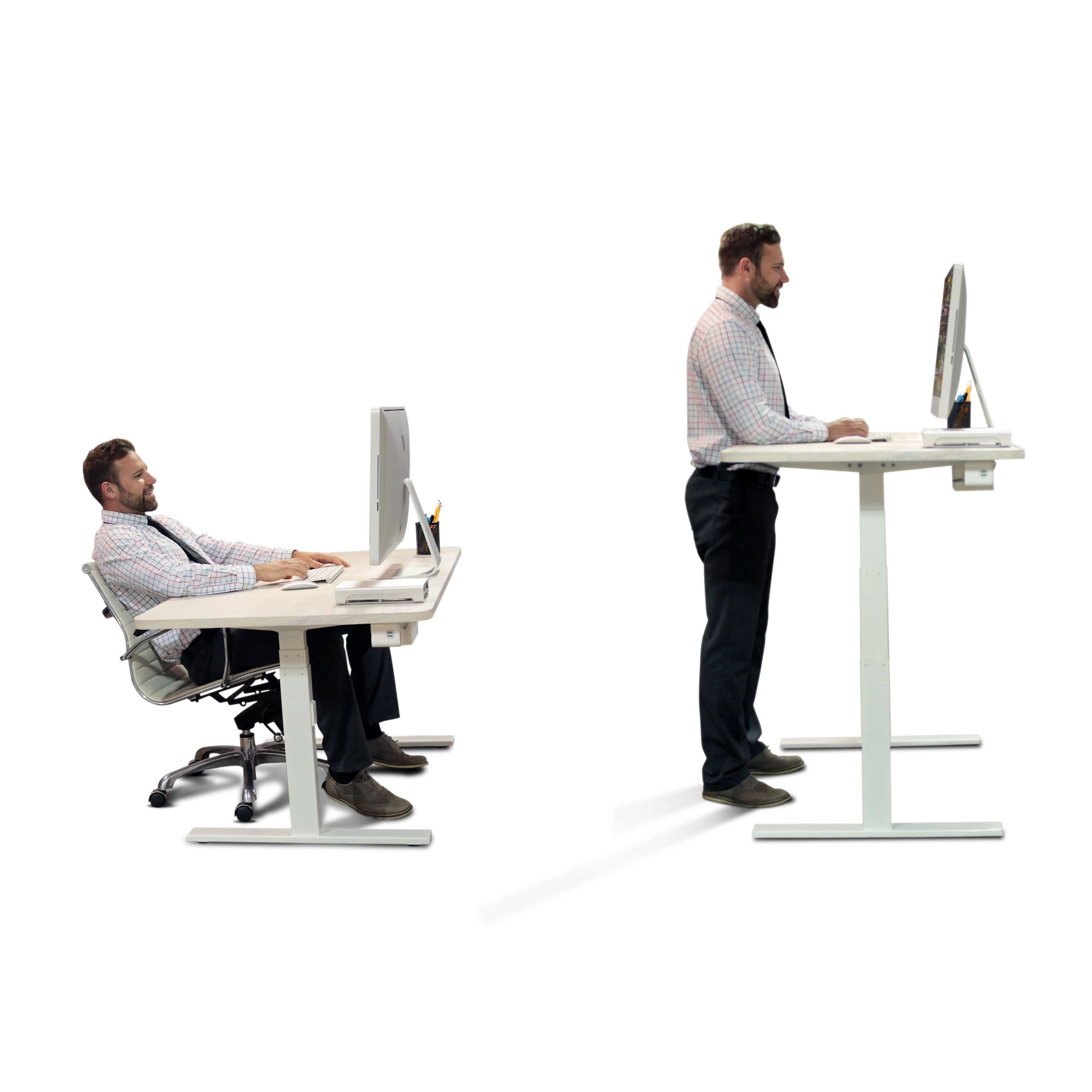 Standing Frame for Desk with Automatic Height Adjustable