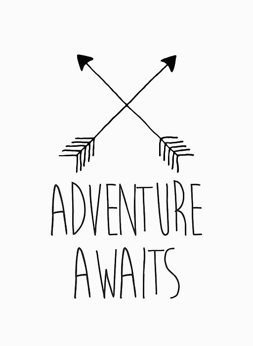 Adventure Awaits Greeting Card for Sale by Zapista OU