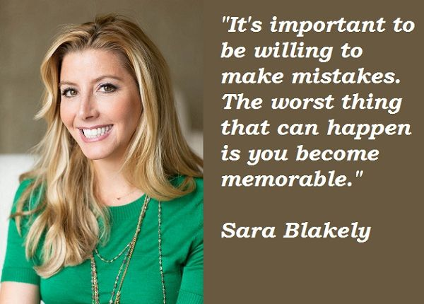 ae4a771cb8 Sara Blakely Quotes