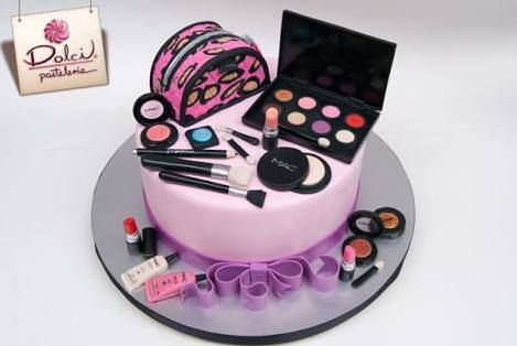 Image result for cosmetics birthday cakes