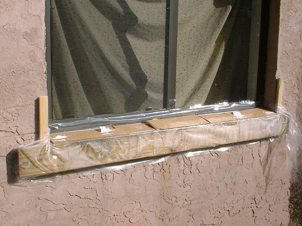 Replacement Of Window Sill On Block Exterior Wall Kurt S Blog Window Sill Exterior Window Sill Concrete Block Walls