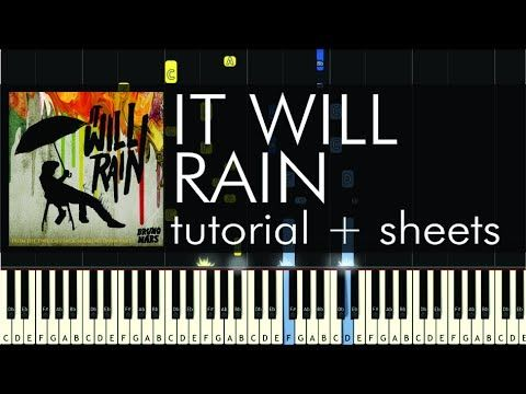 How to Play It Will Rain By Bruno Mars on Piano - YouTube | Piano ...