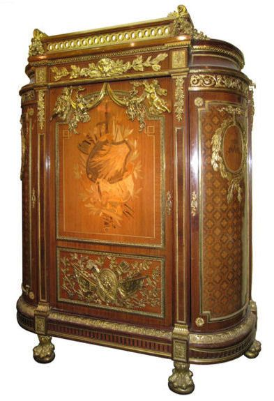 Massive Antique French Louis XVI Style Armoire meubles bois