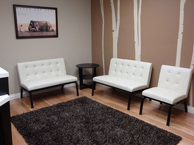 This seems very similar to the space we have.. the size. Love these white chairs and wood floor