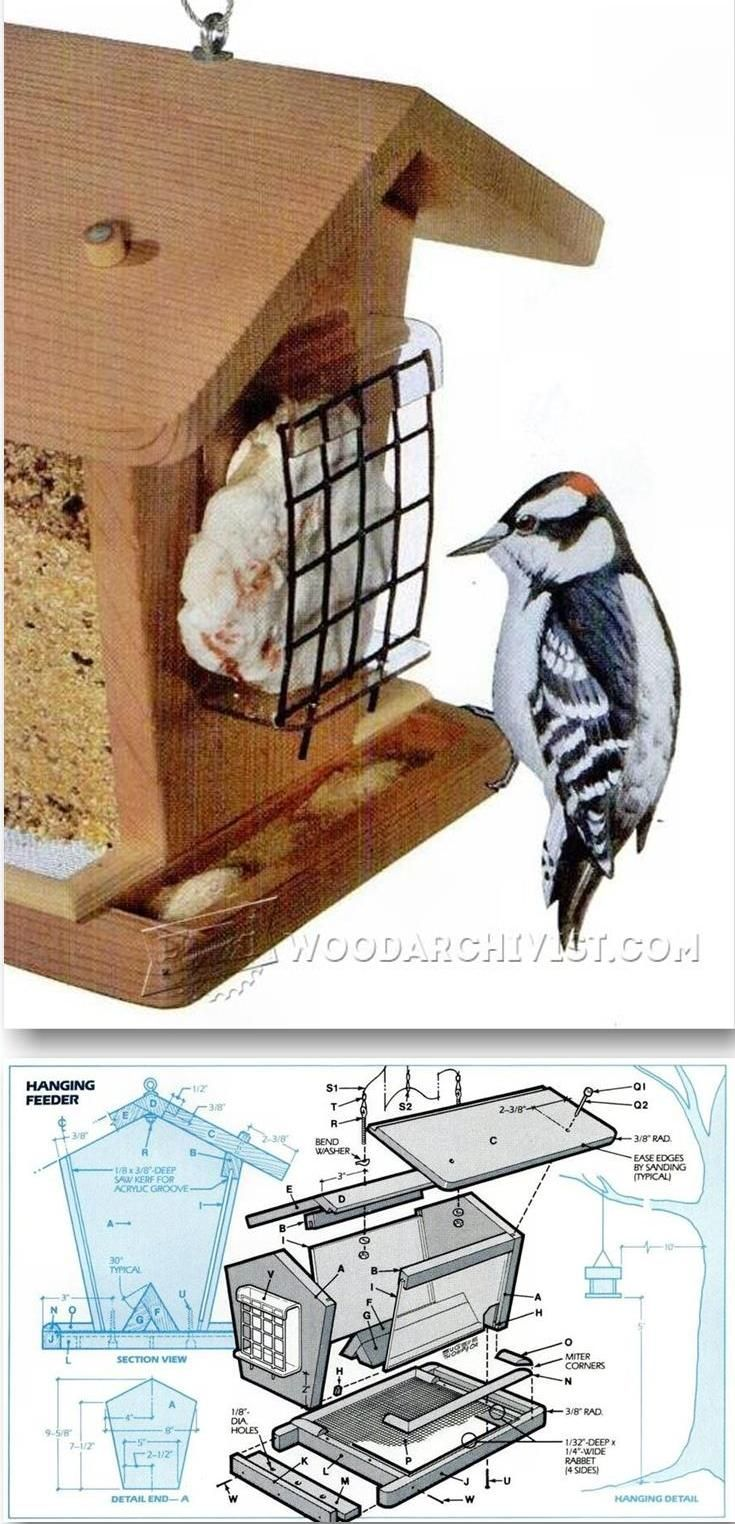 cedar plans project projects birdfeeder kids feeder kit feeders ana diy building white bird