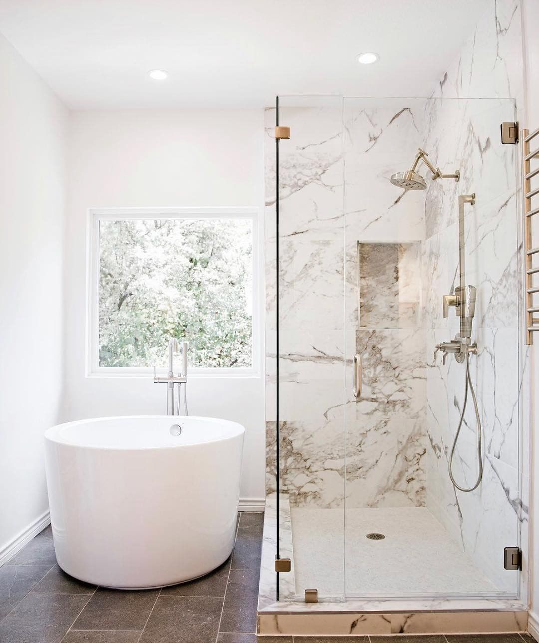 """Photo of Signature Hardware on Instagram: """"Who knew you could transform your bathroom into your own spa-like oasis just by adding one of our Japanese soaking tubs? Thank you for…"""""""