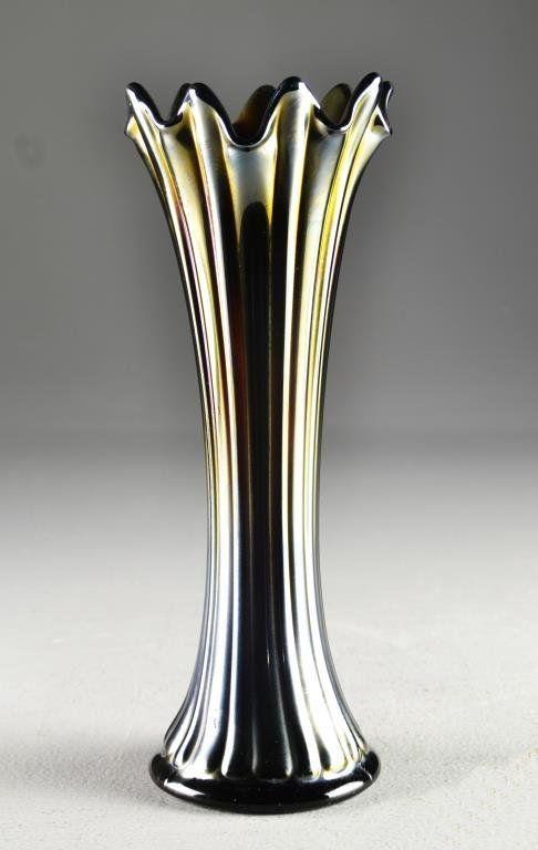 A Northwood Carnival Glass Ribbed Vase On Pinterest Northwood