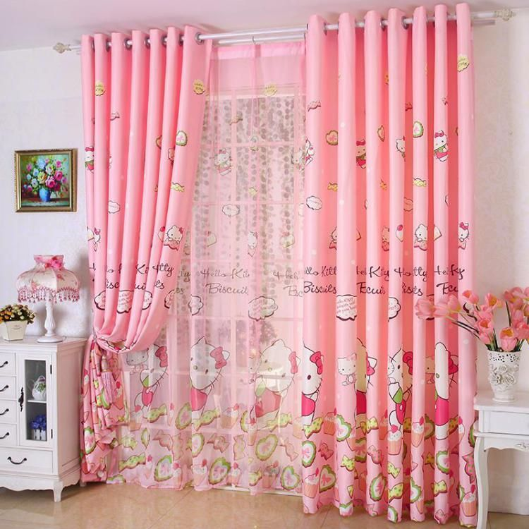 Primitive-Curtains-of-Fuchsia-Pink-Floral-Patterns-9 | Curtain ...
