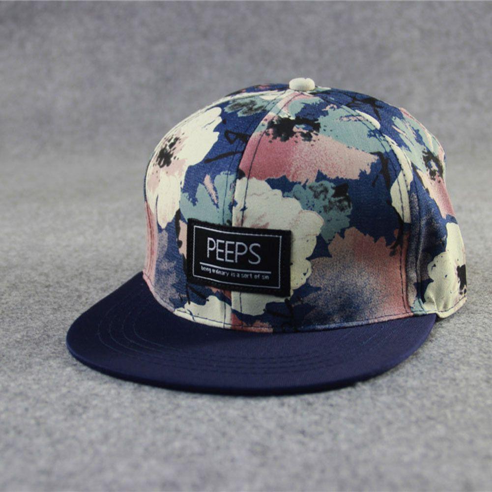 7d17bcf3398  3.9 - Fashion Men s Snapback Adjustable Baseball Cap Hip Hop Hat Cool  Floral Print  ebay