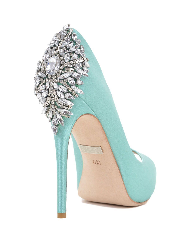 Kiara embellished peep toe pump evening shoe by badgley mischka kiara by badgley mishka they have them in tiffany blue junglespirit Images