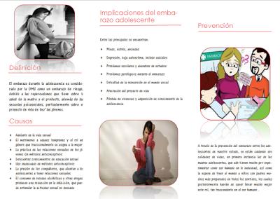 Embarazo En La Adolescencia Triptico Embarazo Adolescente Embarazo Precoz Embarazo