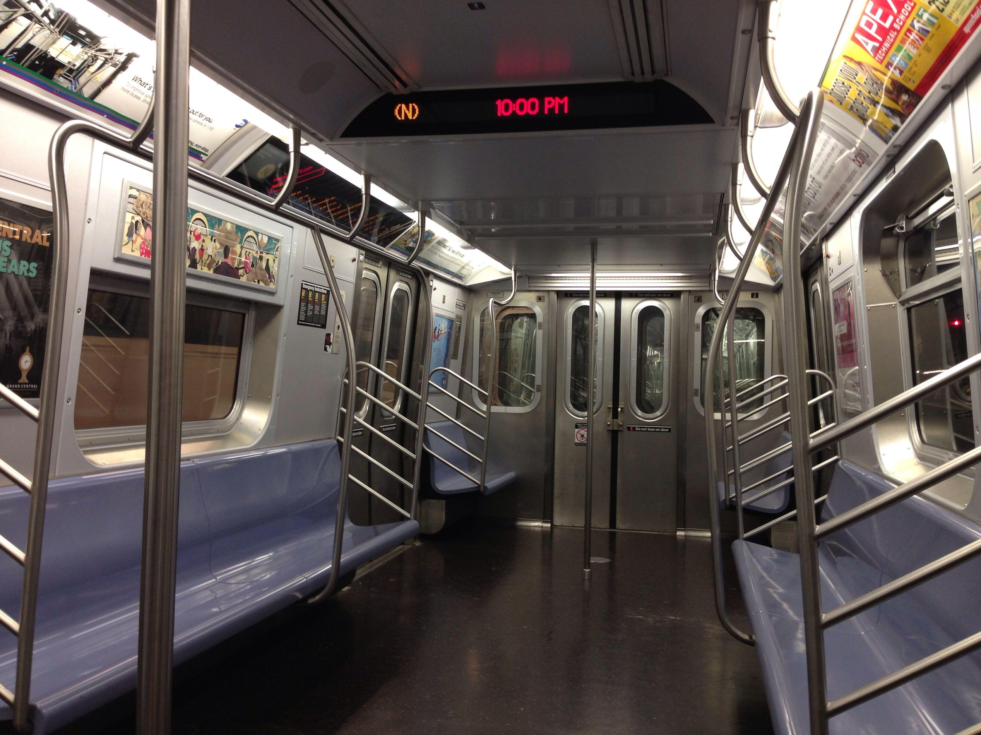 Subway Compartment York City New York City Big Apple