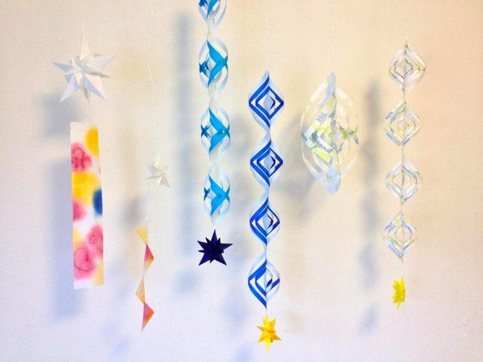 身近な材料でこんなに可愛く 折り紙でガーランドを手作りしよう