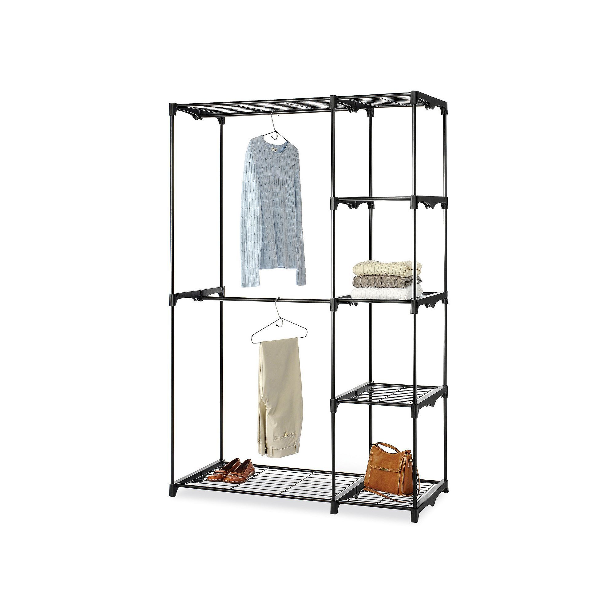 Whitmor Double Rod Closet, Black