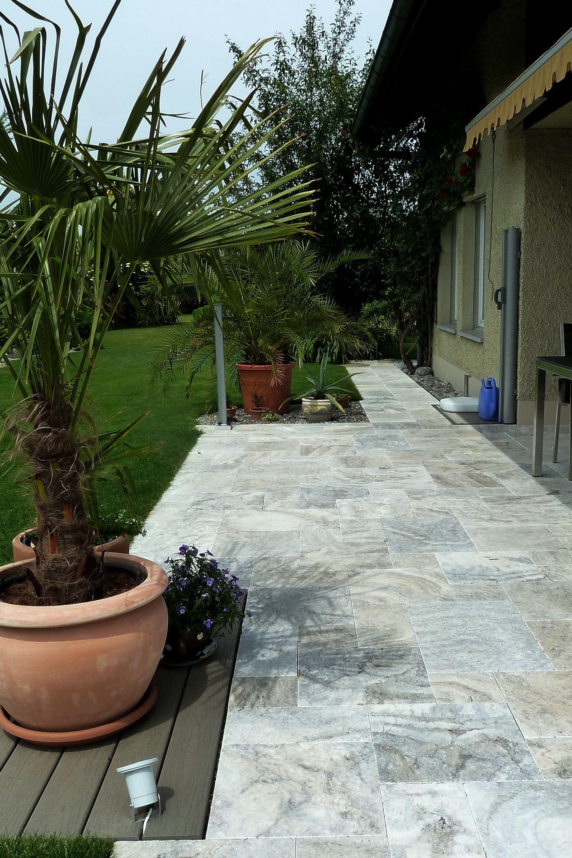 Travertin Silver Terrassenplatten. #wohnrausch #travertin #natursteine  #terrassenplatten #mauersteine #fliesen