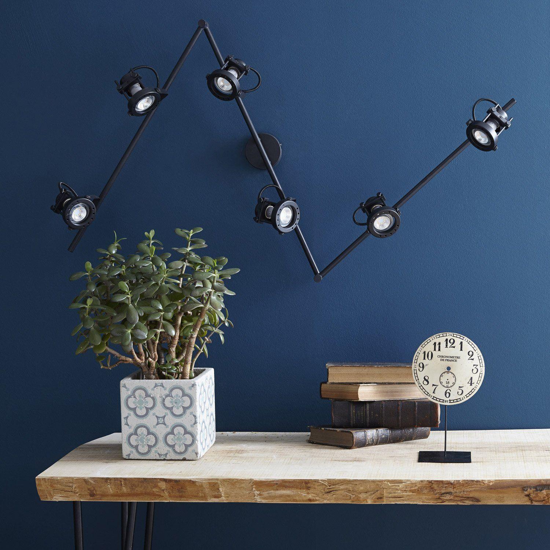 technic rampe articul e 6 spots orientables m tal noir. Black Bedroom Furniture Sets. Home Design Ideas
