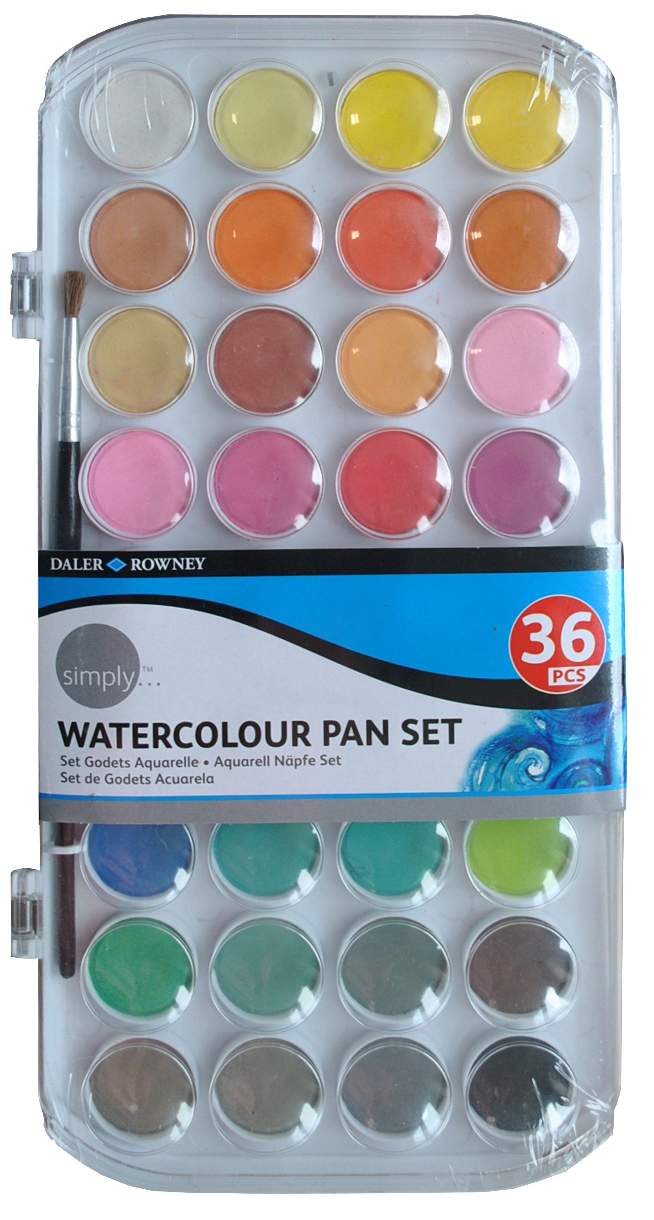 Daler Rowney Watercolor : daler, rowney, watercolor, Simply, Watercolour, Daler, Rowney, Watercolor, Paint, Pans,