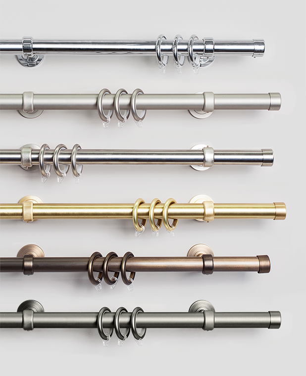 103 w stainless steel curtain rod with