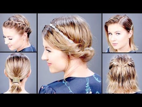 If You Re Looking For Quick Easy And Stylish Updos For Mornings You Re Running Late We Ve Curated 22 Wet In 2020 Damp Hair Styles Medium Hair Styles Easy Hairstyles