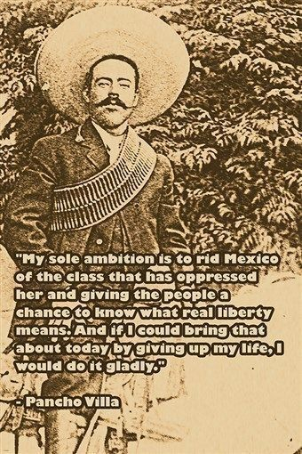 pancho villa photo quote MEXICO WHAT REAL LIBERTY MEANS 24X36 political gem