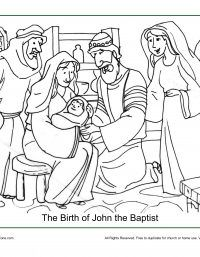 Image Result For John The Baptist Is Born Coloring Page