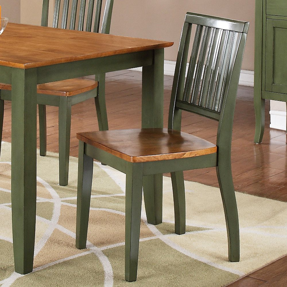 Steve Silver Candice Side Chair In Oak And Green   CD450SG The Candice  Collection Offers Country