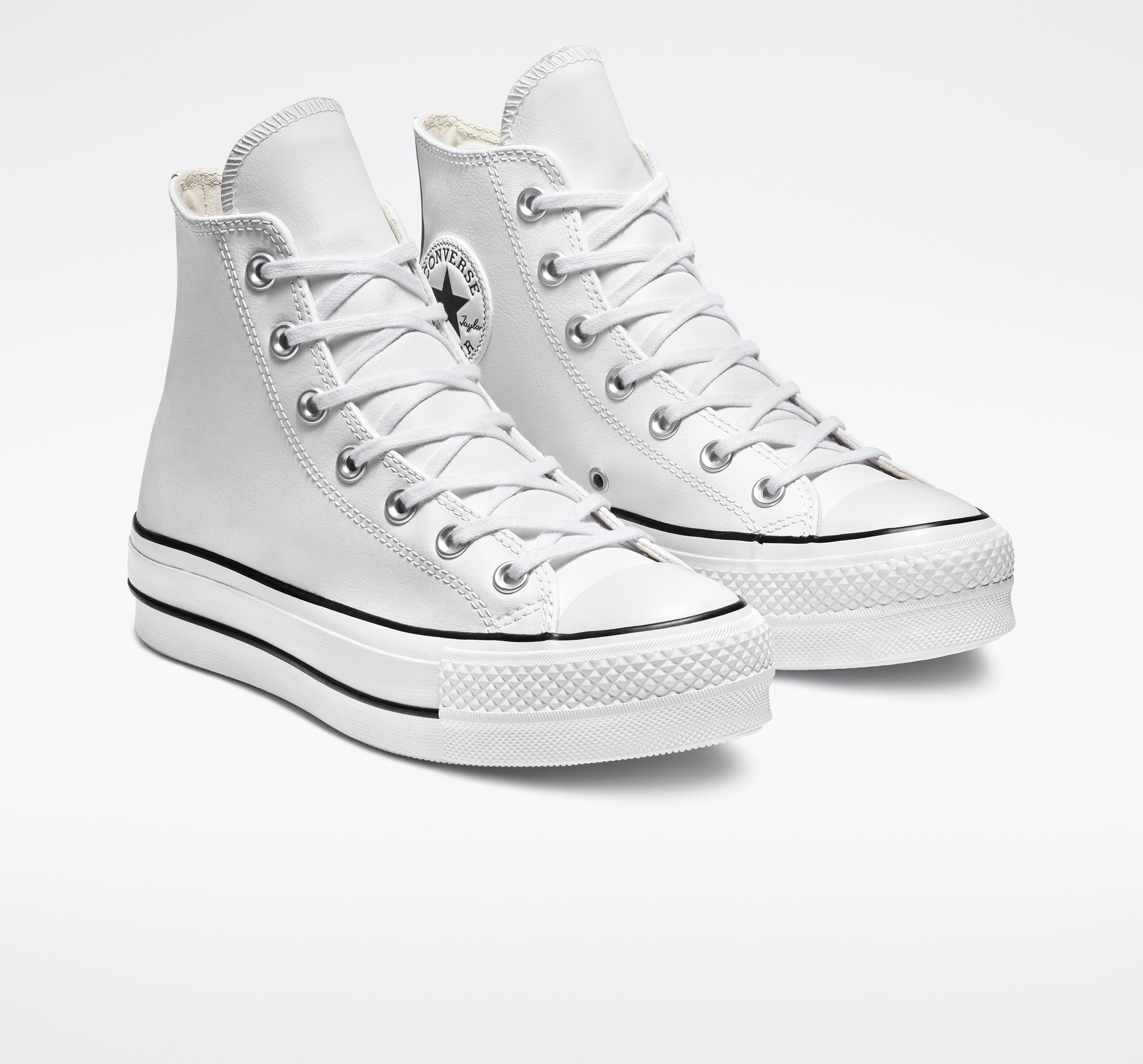 Clean Leather Platform Chuck Taylor All