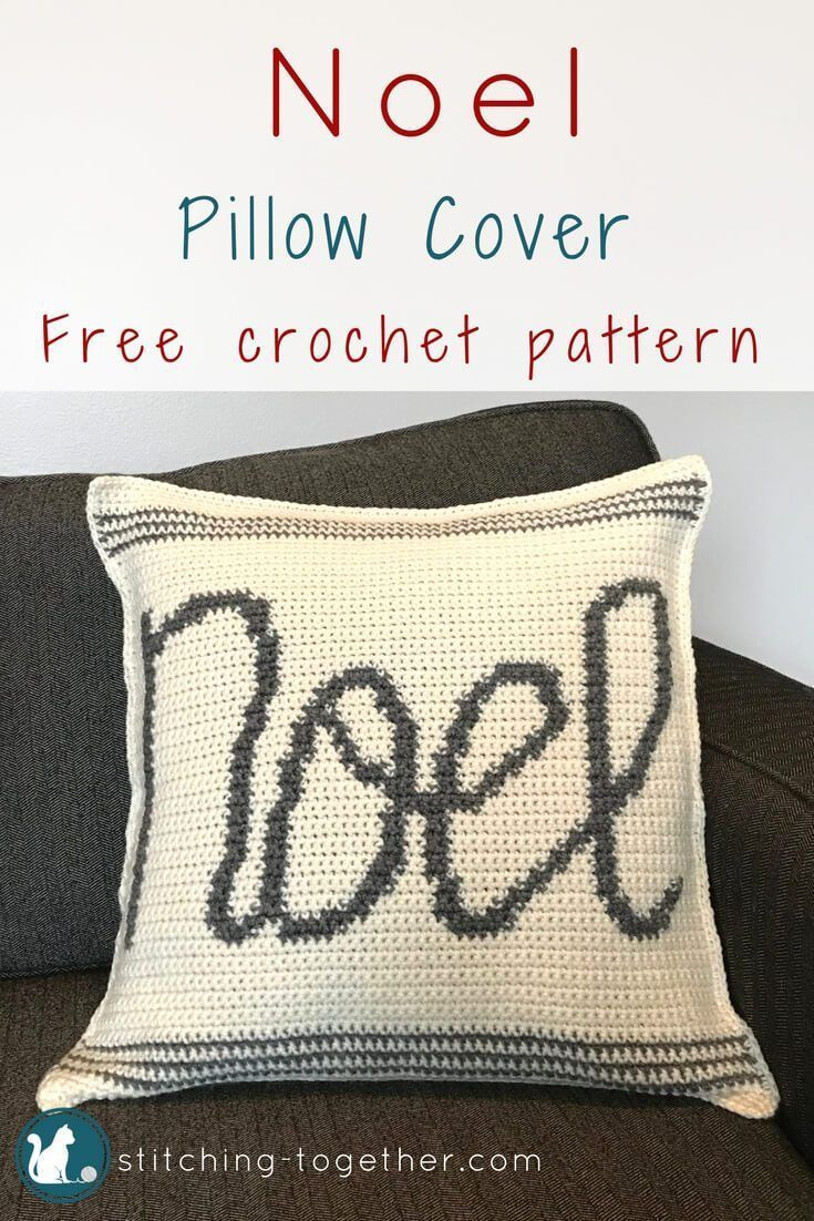 Cute Noel crochet pillow cover. Get in the holiday spirit with this ...