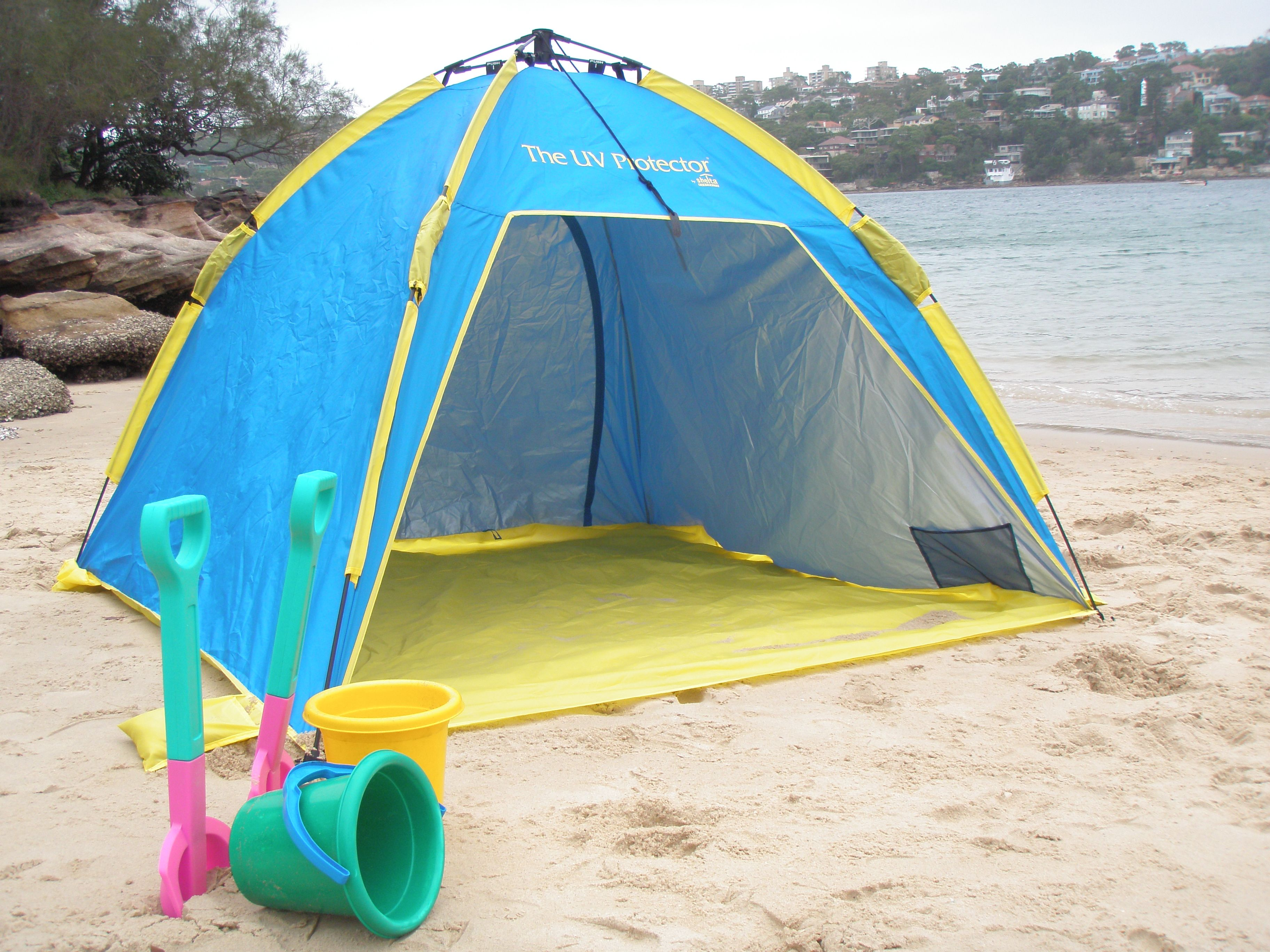 Sunproof UV beach tent by Shelta Australia. Distributed in