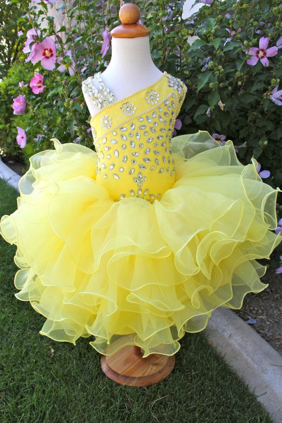 Beautiful Pageant glitz cupcake pageant dress toddler or girl ...