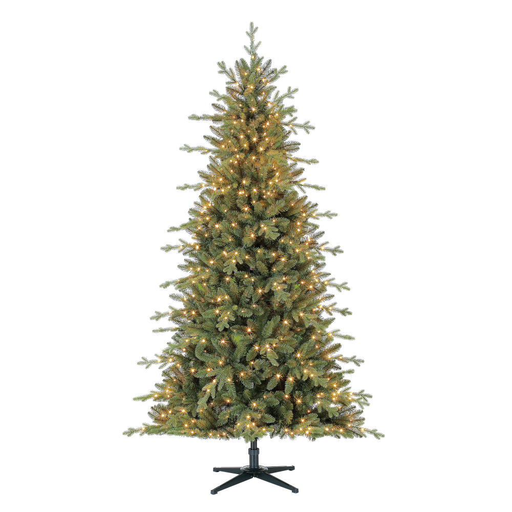 Holiday Time 7ft Prelit Fir Vancouver Christmas Tree With 600 Led Fairy Lights Green Walmart Com Fir Christmas Tree Pre Lit Christmas Tree Christmas Tree