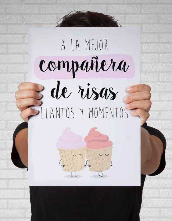 Frases Para Una Mejor Amiga Cortas Chicas Amigas Pinterest Foto