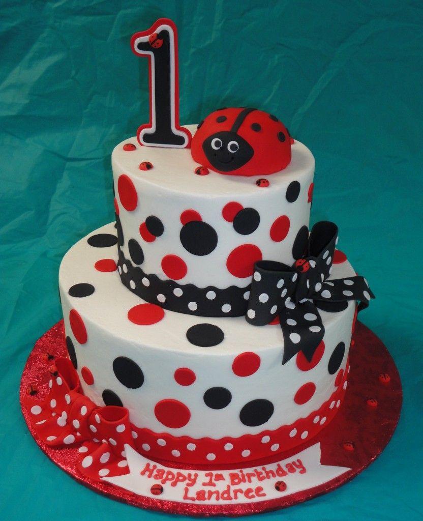 Superb Ladybug Baby Shower Cakes With Images Lady Bug Birthday Cake Funny Birthday Cards Online Elaedamsfinfo