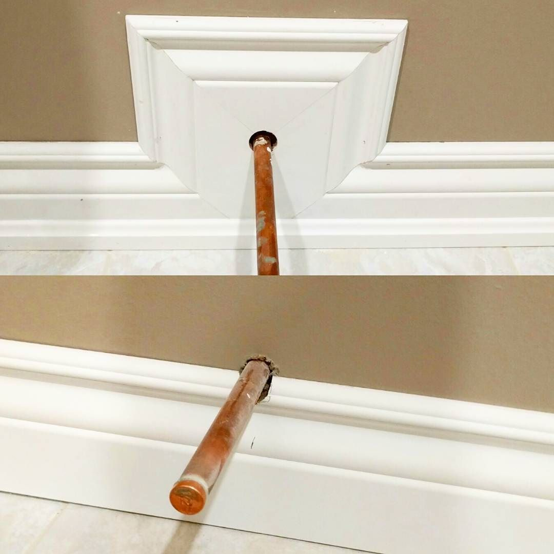 How to cut base molding around wall vent - Installing Quarter Round Moldings See More Here Is A Tip If You Are Running Baseboard And Come Across A Toilet Supply That