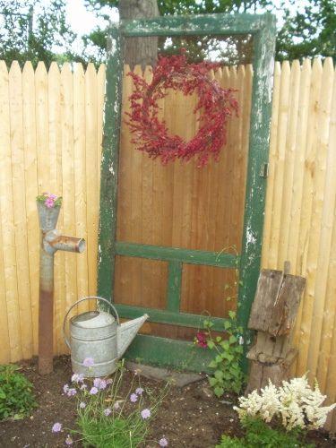 screen door Puerta reciclada, Muebles viejos y Puertas decoradas