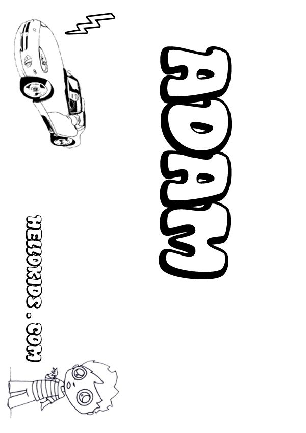 Kids Name Coloring Pages Adam Boy Name To Color Name Coloring Pages Coloring Pages Boy Coloring