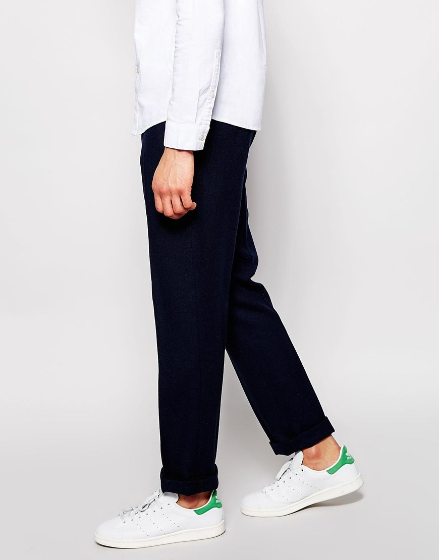 6f01ea46363 Image 4 of ASOS Slim Fit Smart Wool Trousers