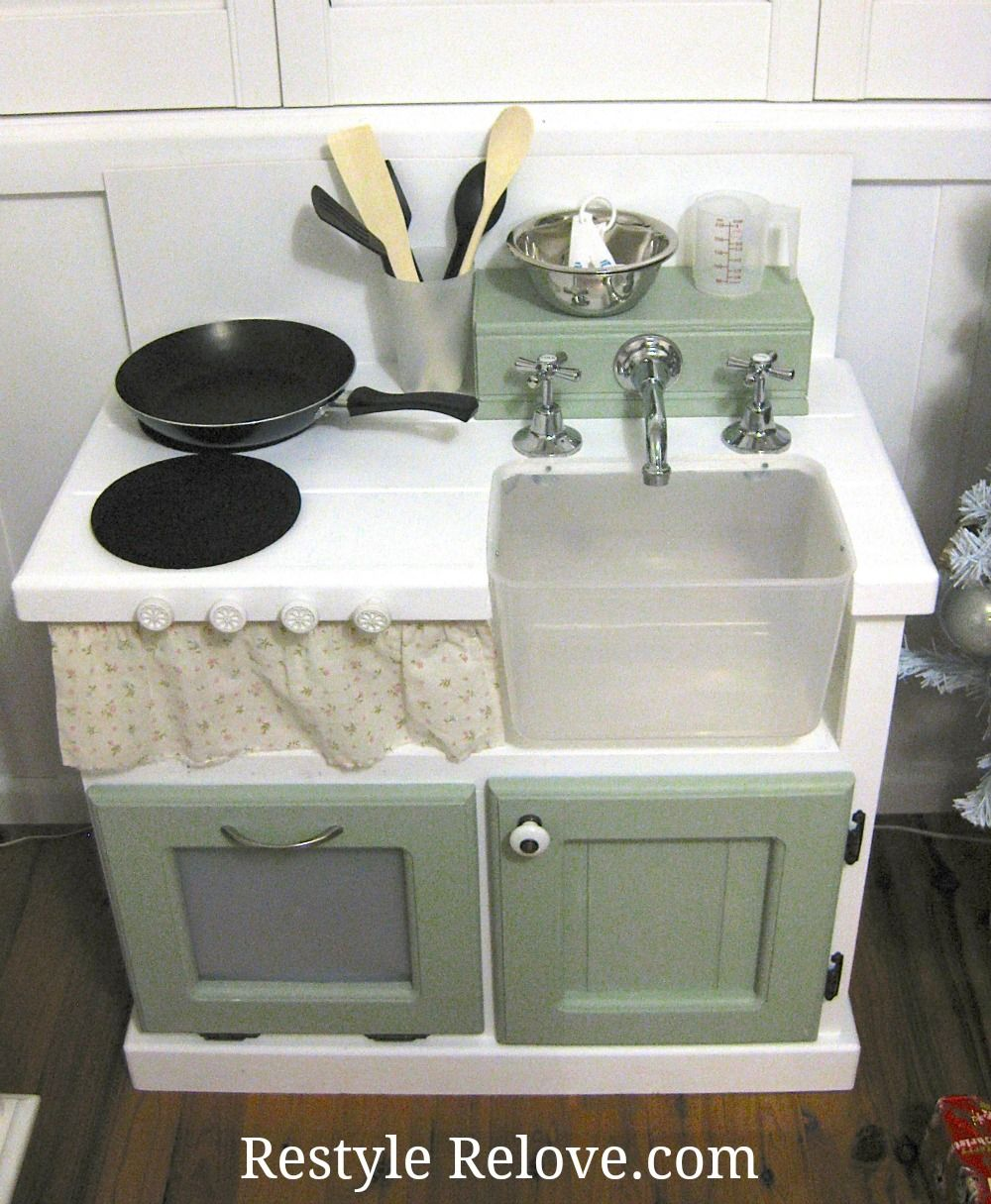 Childrens Wooden Kitchen Furniture Restyle Relove Diy Kids Wooden Kitchen Crafts To Try