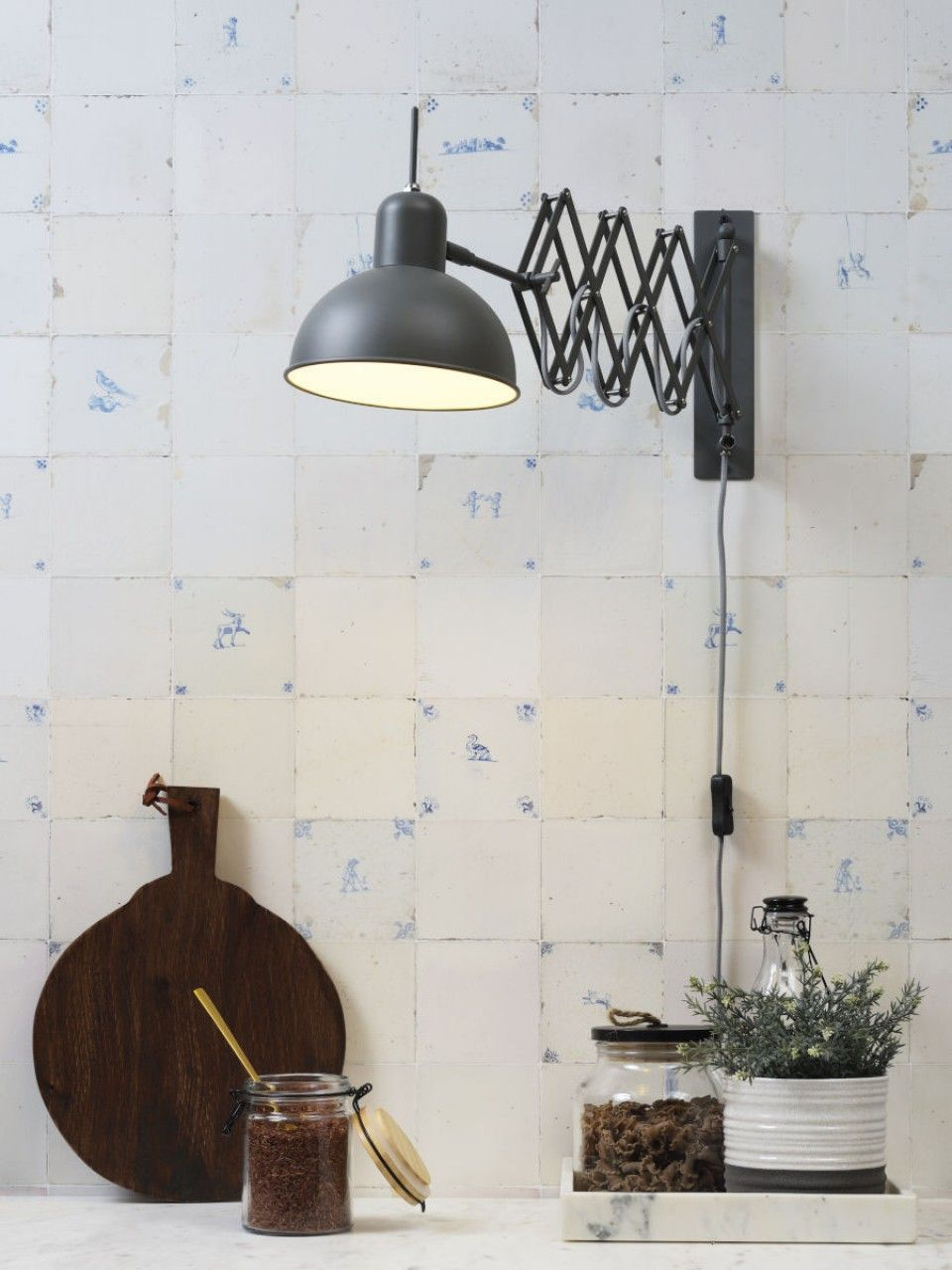 Aberdeen wall lamp by itus about romi green grey lighting