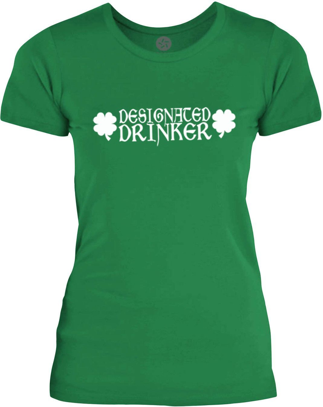 Big Texas Designated Drinker (White) Womens Fine Jersey T-Shirt
