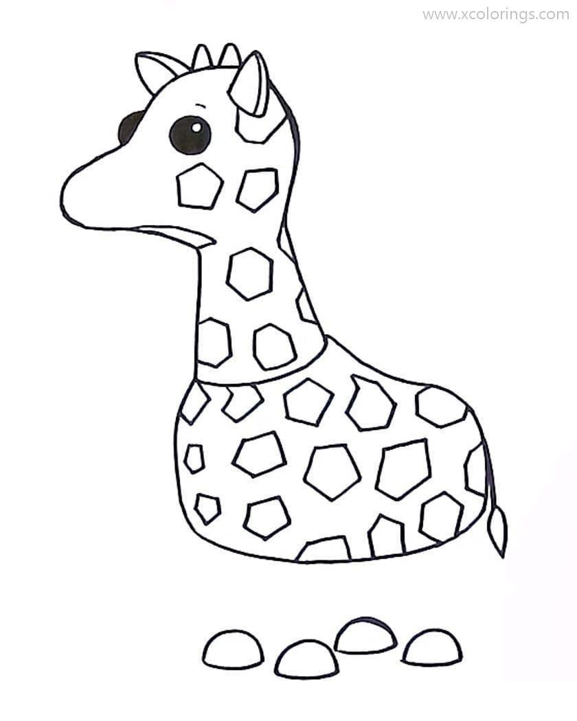 Roblox Adopt Me Coloring Pages Giraffe Pets Drawing Giraffe Coloring Pages Cool Coloring Pages